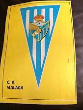 Cartel De Tierra/foto del Estadio-CD Málaga + Color banderín en reversa c1970