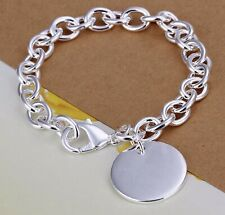925 Sterling Silver Circle Charm Style 7.5