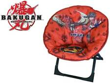 Kids Bakugan Folding Space Moon Red Padded Bedroom Soft Lightweight Chair