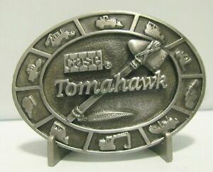 *Case Construction Customer Center Tomahawk Pewter Belt Buckle 1989 Loader Dozer