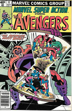 Marvel Super Action Comic Book #17 The Avengers 1980 FINE+
