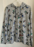 Disney Parks Mickey Mouse Zip-Up Hoodie Jacket MED. MICKEY W/ COLORED SHORTS NWT