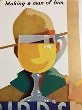 1930 Print Ad Boy Scout Making a Man Bird's Custard Art Deco Graphic Ills