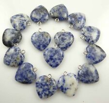 Beautiful Heart brazil sodalite agate pendant Gemstone LOOSE necklace