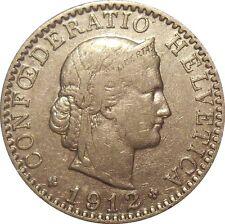 Switzerland Suisse 20 Rappen centimes 1912 KM#29 (S-15)