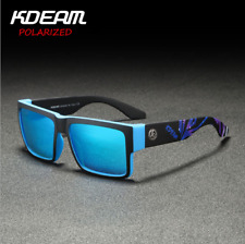 KDEAM Men's Polarized Sport Sunglasses Outdoor Driving Fishing Square Glasses