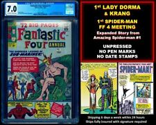 🔥 FANTASTIC FOUR ANNUAL #1 CGC 7.0 OW WHITE 🔥 $1 SHIPPING W ANY SUB-MARINER 1