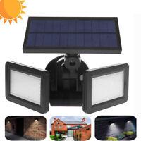 Impermeable doble cabeza 48 LED Solar luz Radar Sensor Proyector exterior apliqu