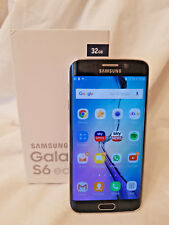 SAMSUNG GALAXY S6 EDGE 4G 32GB Mobile Smartphone Black Sapphire Unlocked
