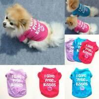 Haustier Kleidung Baumwolle Weste Welpe Katze Hund Briefe Bedruckte T-Shirt Tops