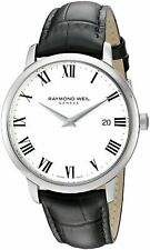 Raymond Weil Toccata Men's White Dial Black Leather Watch - 5488-STC-00300 NEW