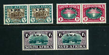 Stamps - South West Africa 1939 Semi-Postal set in pairs #B9-B11 MH