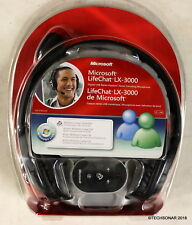 Microsoft Life Chat LX-3000 Stereo Headset - Wired - Over-the-head - Binaural