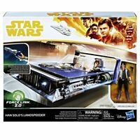 Star Wars Force Link 2.0 Han Solo Landspeeder & Action Figure Toy Kids Spaceship