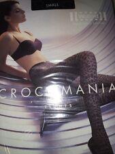 Wolford Crocomania Tights Collant 11164 *Rare* Coriander/Black Small