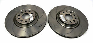 RTSport Front Brake Discs, 8 Grooves suitable for VW, Audi, Skoda & Seat 340mm