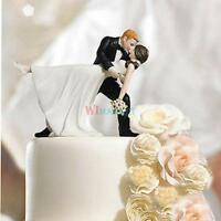 Tango Kiss Couple Wedding Cake Topper Funny Bride Groom Cake Decor Decoration