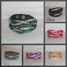 Bracelet,Cuff,Wrap,Crystals,Twist...Double Colour Twist Wrap Cuff Bracelet(WB.L)