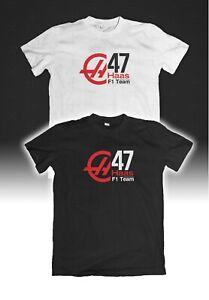 T-Shirt HAAS F1 Racing Mick Schumacher #47 Team Motorsport Tee Adult Size