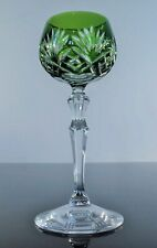Antique 1 Glass Digestive Crystal Colour Green Tree Peill Bohemian Signed