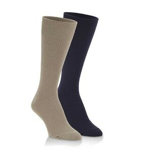 World's Softest Socks Ribbed Trouser Socks - 2 pair pack Brown, khaki Size Large
