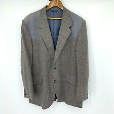 Vintage Pendleton Wool Jacket Men's Size 48 Long Professor Leather Patch Blazer
