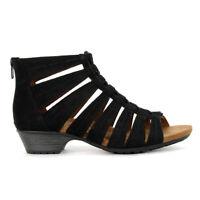 Rockport Cobb Hill Women's Gramercy Gabby Black Wedge Sandals CBW23BK NEW