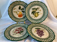 Vtg Raymond Waites Cornucopia Salad Plates Certified International Set Of 4