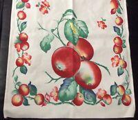 Vintage Mid-Century Cotton Fruit Towel