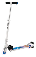 Razor Spark Ultra Kick Scooter Super Bright Led Wheels Blue Play Outdoor New