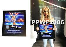 WWE CARMELLA SMACKDOWN HAND SIGNED FRAMED PLAQUE 15X17 WITH PICTURE PROOF & COA