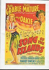 SONG OF THE ISLANDS - BETTY GRABLE & VICTOR MATURE RARE CLASSIC ALL REGION DVD