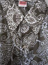 SCHORSA Herren Hemden Shirt DDR 60er TRUE VINTAGE GDR Nylon 37/38 braun weiß NOS