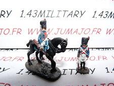 SOLDAT de plomb DEL PRADO 1/50 : AUSTERLITZ Napoléon : lot n°19 cavalier+soldat
