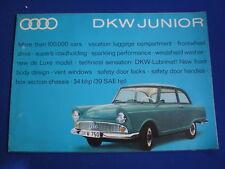 DKW Auto Union  JUNIOR   UK Brochure   c1962