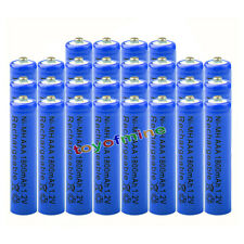 28x AAA 1800mAh 1.2V pile Ni-MH rechargeable batterie 3A bleu pour MP3 Jouets RC