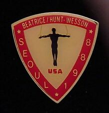 Gymnastics Olympic Pin Badge ~ Rings ~ Seoul~1988~ Beatrice Hunt Wesson