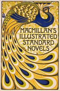 Peacock 1903 Vintage Art Nouveau Giclee Canvas Print 20X30