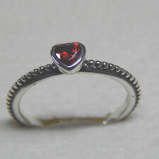 New Pandora 190896SGR One Love Red Synt Ruby Heart Ring Size 54 Box Included