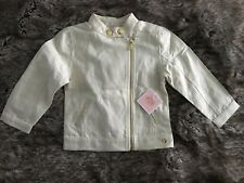 £128 JUICY COUTURE Designer Ecru & Gold Girl's Jacket Size 2 years