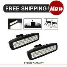 2x 6 inch Off Road 18W LED Light Bar Fog Lamp Work Light 12V For SUV Pickup