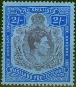 Nyasaland 1938 2s Purple & Blue-Blue SG139 Fine MNH