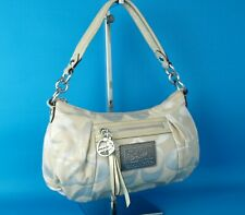 Auth COACH Signature Beige Canvas Handbag Hand Bag Purse Women N.K. 1093-16293