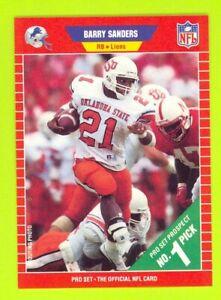 1989 Pro Set Football #494 BARRY SANDERS ~ Rookie Card RC ~ Detroit Lions ~ HOF