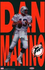 SPORTS POSTER~Dan Marino 1997 Miami Dolphins Vintage Starline Letters Print New~