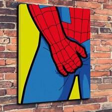 """POP Art SPIDER MAN """"prurito"""" Scatola stampata su tela A1.30""""x20"""" - Profondità 30 mm Telaio"""