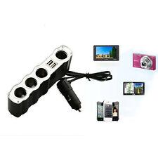 12v 4 Canales Coche Mechero Separador Varios enchufe doble 2 Cargador USB