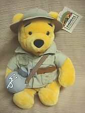 "9"" SAFARI WINNIE THE POOH w/ Tags from THE DISNEY STORE"