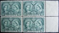 1897 CANADA #52: F/VF MNH right margin Block of 4 - Queen Victoria Jubilee issue