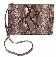 NWT HOT Michael Kors Ava Stud Large Convertible Pouch Leather 32T6TA6U3N NATURAL